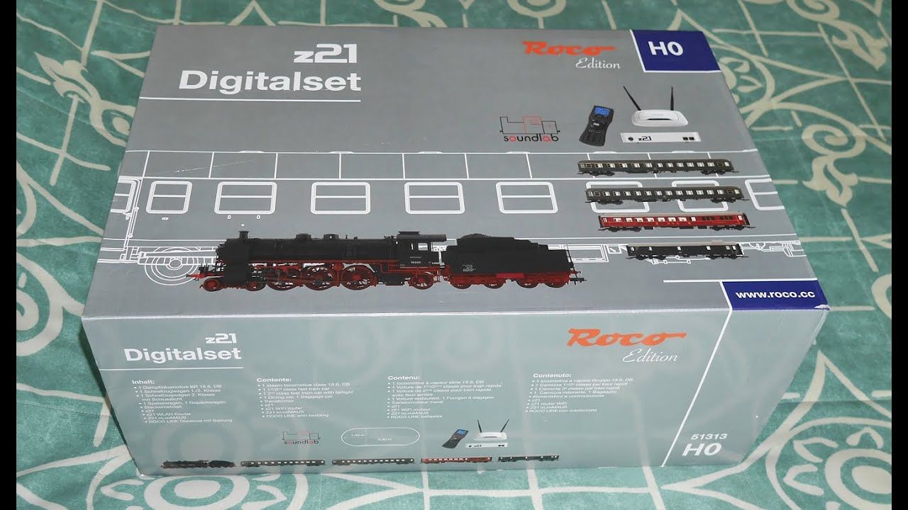 Download Roco 51313 BR18 Locomotive Digital Startset with z21 Controller, Track and Coaches