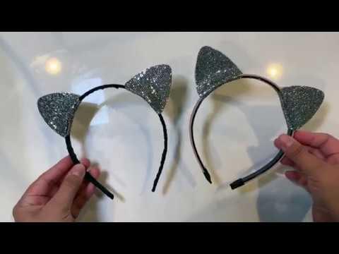Diy Cat Ears How To Make Cat Ear Headband Ariana Grande Cat Ears Halloween Cat Ear Headband Youtube