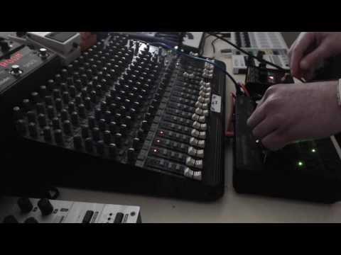 Korg Monotribe Techno Jamming (with Proco Rat Distortion And Eventide Space Pedal)