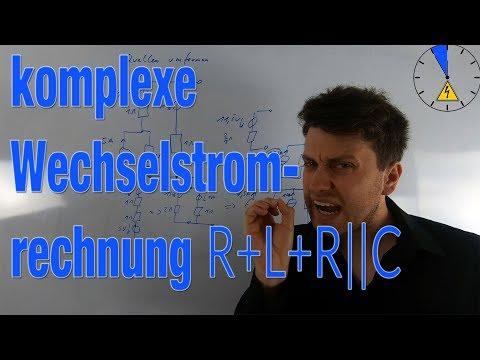 Berechnung einer Spannung - R + L + R||C - komplexe Wechselstromrechnung #ET5M