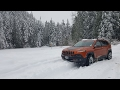 Winter Snow Driving with Jeep 4x4 Cherokee Trailhawk