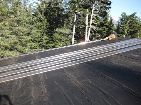House Building Part 7: Installing Metal Roofing