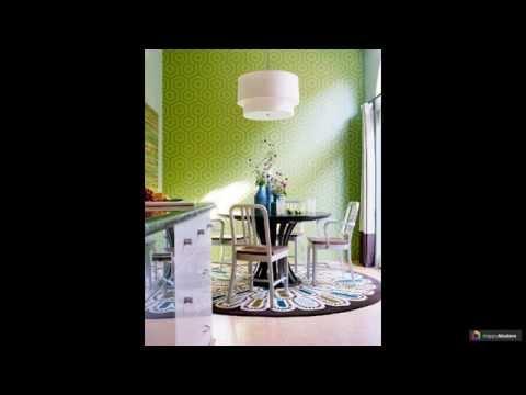 Зеленые обои в интерьере: 65 уютных комнат