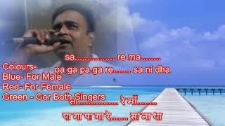 Kagaj kalam davat La likh doon dil karaoke only for male singers by Rajesh Gupta
