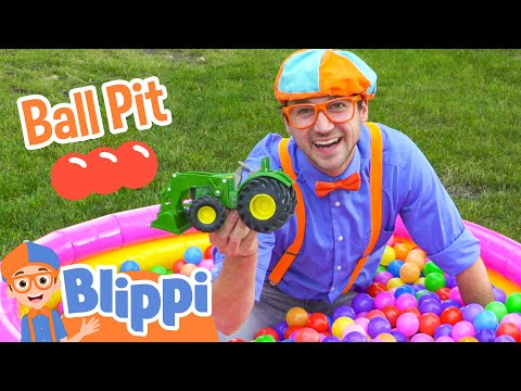 Ball Pit with Blippi - Colorful Surprise Educational Videos for Kids