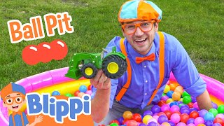 Repeat youtube video Ball Pit with Blippi - Colorful Surprise Educational Videos for Kids