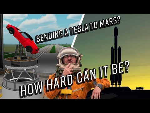 Re-Sending a Tesla to Mars on a Falcon Heavy in Kerbal Space Program Real Solar System