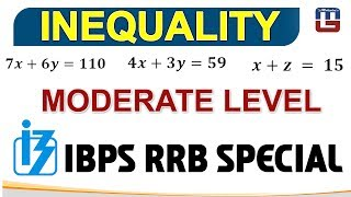 INEQUALITY | MODERATE LEVEL | PART 2 | MATHS | IBPS RRB 2017 2017 Video
