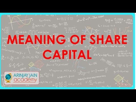 Meaning of Share Capital   Class XII Accounts - CBSE