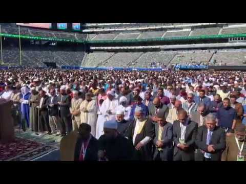 "New Jersey: Muslims take over Metlife (Giants) Stadium for (segregated) Islamic ""festival of sacrifice"" prayer"