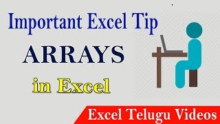 Arrays in Excel || MS-Excel Telugu Tutorials