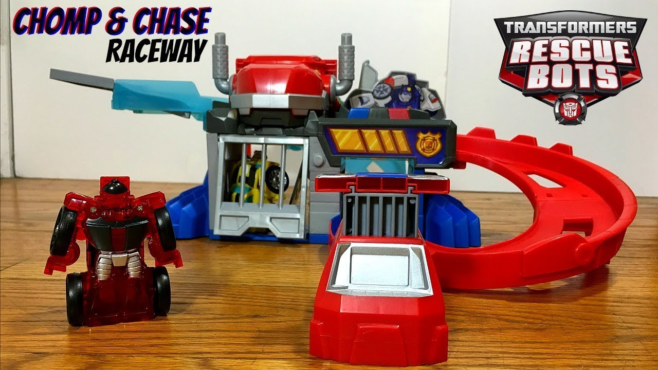 Transformers Rescue Bots Flip Racers CHOMP Amp CHASE RACEWAY