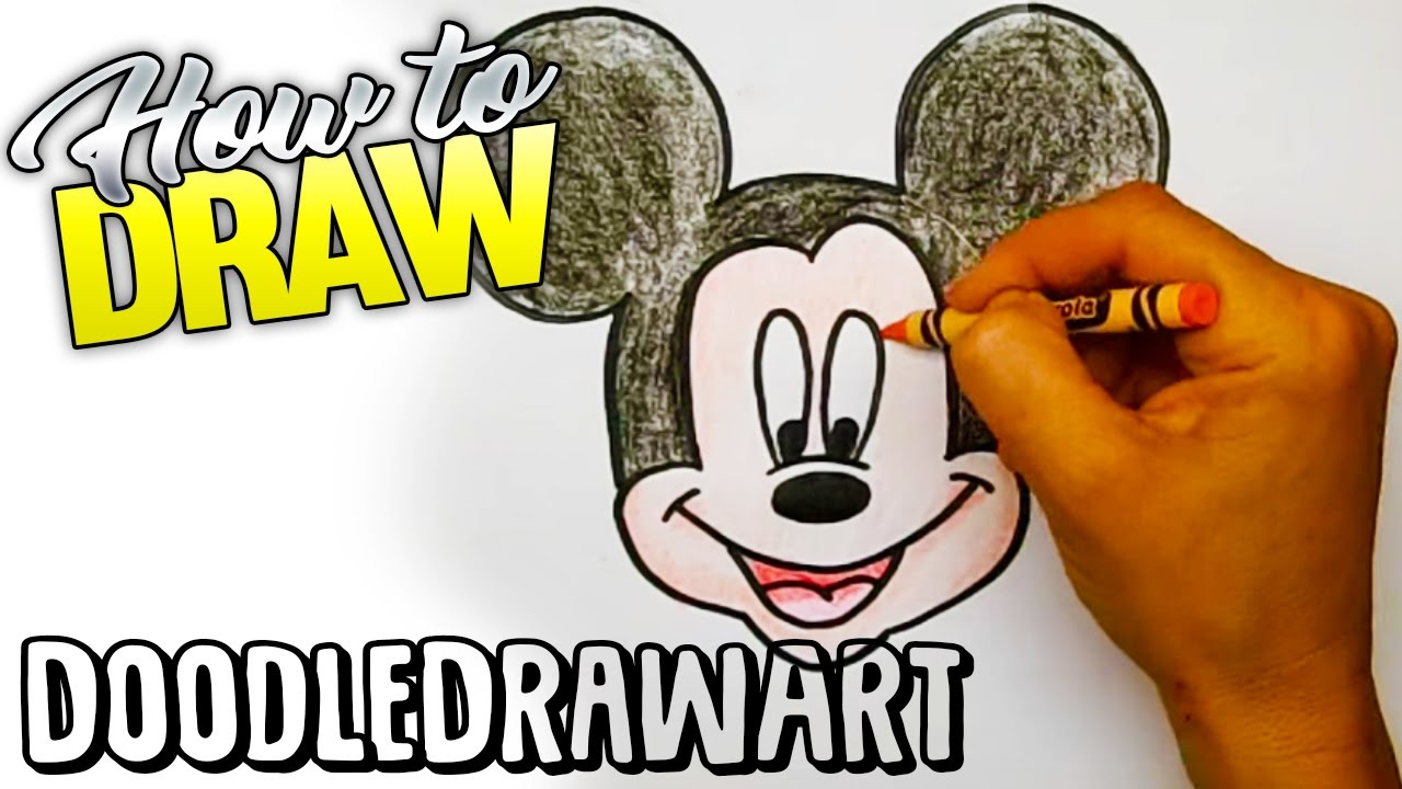 Drawing How To Draw Mickey Mouse Step By Step Youtube