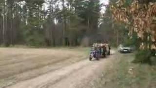 Ursus c 308(NIE dzik)+2 przyczepy-wozenie drzewa
