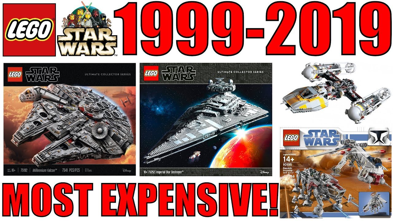 The 20 MOST EXPENSIVE LEGO Star Wars Sets Released From 1999-2019 By Year