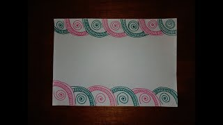 DIY || Simple, Easy & Decorative Border Design For Project File || Back To School《#252》