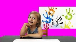 Color learning for kids with funny Kid Luna Farben lernen für Kleinkinder deutsch mit Luna