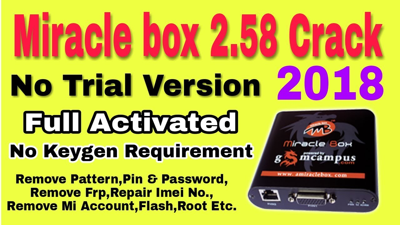 miracle box crack latest 2018 without box