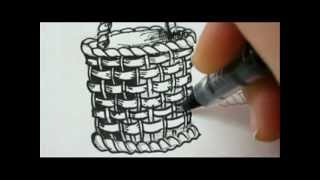 FANTASTIC BASKET !! - Draw A Basket For Flowers or Fruit
