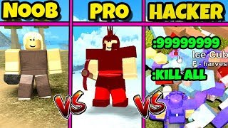 NOOB vs PRO vs HACKER - Booga Booga Version (Roblox)