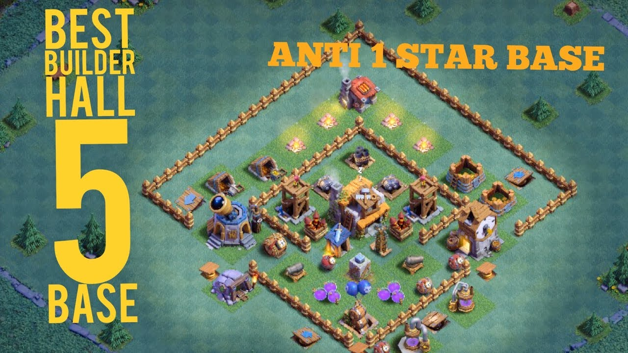 Best Builder Hall 5 Base With Replays Clash Of Clans