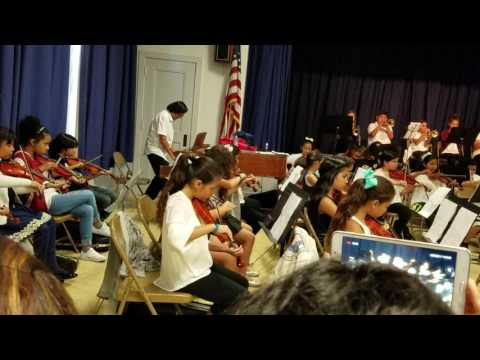 Fourth Street School plays violin