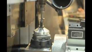 Primacon PFM 24 NGd - Graphite milling(5-ти координатная обработка графитового стержня - новогодняя ёлка. 5-axis milling Euromold 2011., 2012-12-17T05:37:58.000Z)