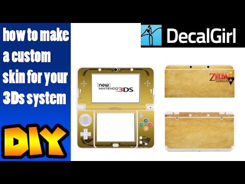 diy how to make a custom decal for your 3dsxl system from decalgirl