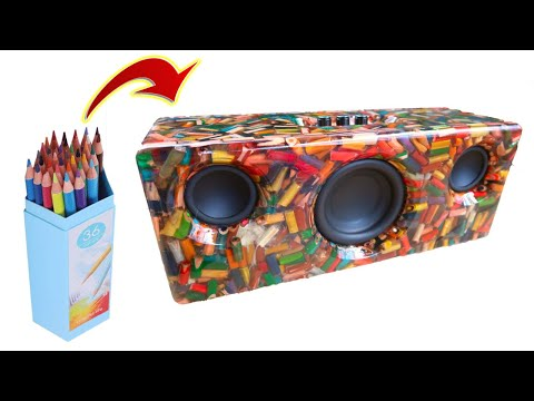 DIY 2.1 Bluetooth Speaker Using Colored Pencils