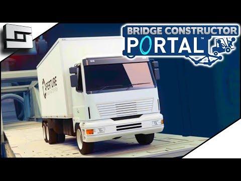 BRIDGE CONSTRUCTOR PORTAL! RIP The Convoy!