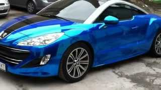 Peugeot RCZ - Blue Chrome Car Wrap голубая синяя зеркальная пленка(Peugeot RCZ - Blue Chrome Car Wrap голубая синяя зеркальная пленка., 2013-04-01T18:52:45.000Z)