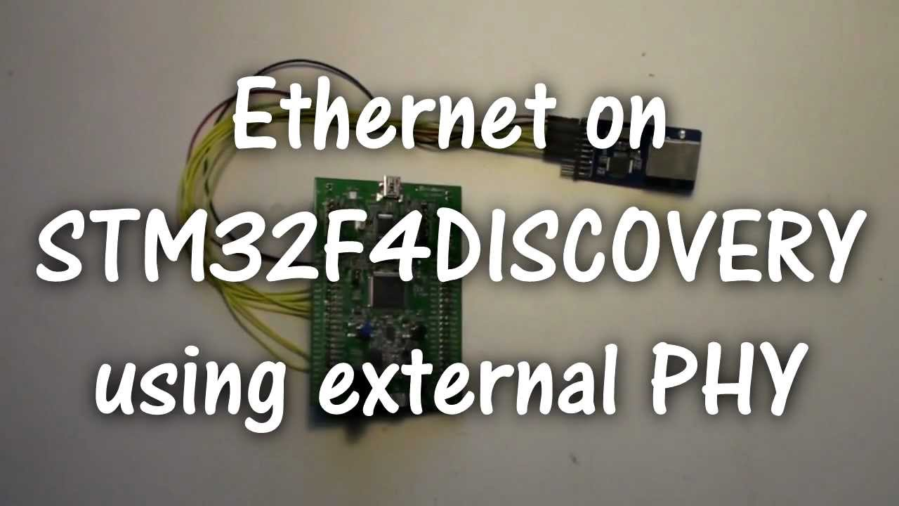 Ethernet on STM32F4DISCOVERY using external PHY