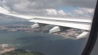 Aterragem no Aeroporto de Lisboa TAP Portugal Airbus A330 Landing at Lisbon Airport
