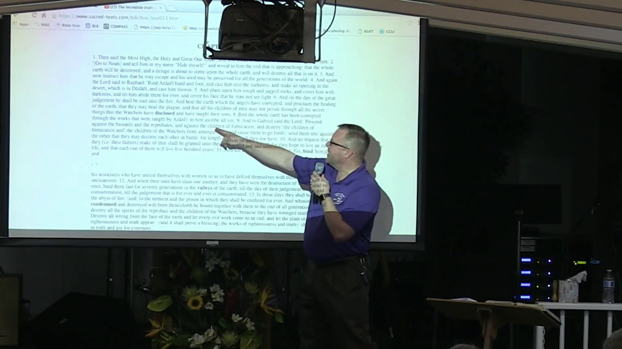 18 September 2019   CCWO's Midweek Study on the Doctrine of Angels pt  2   Pastor Dan Jacobson