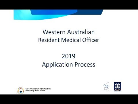2019 Resident Medical Officer Application Process