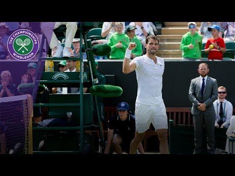Wimbledon 2017 - Grigor Dimitrov stunning match point against Baghdatis