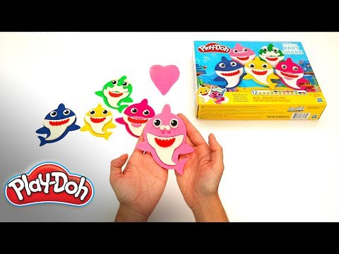 Play-Doh Official | Pinkfong Baby Shark Unboxing 🦈Make Your Shark Family | Stop Motion Animation