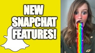 NEW SNAPCHAT SELFIE LENSES!(This is fun. New feature on snapchat allows for face lenses! More snapchat tips + tricks: https://www.youtube.com/watch?v=F3vtp_gAojY ** Subscribe: ..., 2015-09-15T20:36:52.000Z)
