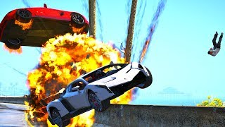 High Speed Crashes with Real Cars #3 - GTA 5 REDUX (Ultra Settings)