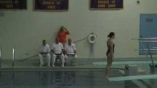 Katie Warburg wins FCIAC diving title