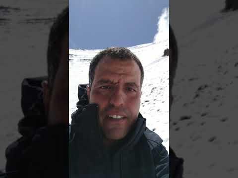 Randonnée au Maroc, ascension du Mont M'goun 4068m dans le haut Atlas Maroc année Septembre 2019