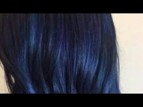 الاسودالمزرق صبغة الشعر نوار بلوتي اسود مزرق روووعة Youtube