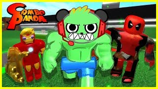 ROBLOX Superhero Tycoon COMBO SMASH Let's Play with Combo Panda