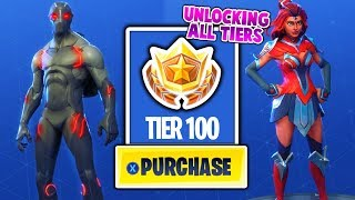 BUYING ALL SEASON 4 TIERS Battle Pass! ALL ITEMS! OMEGA, NEW EMOTES AND MORE!