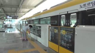 大邱都市鉄道3号線 八達駅発車