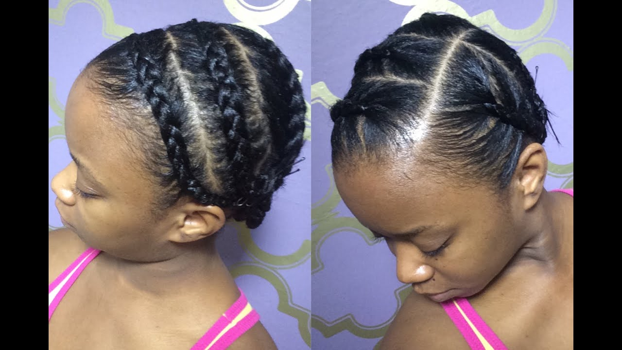 Protective Braids Under Wigs (Tutorial) - YouTube