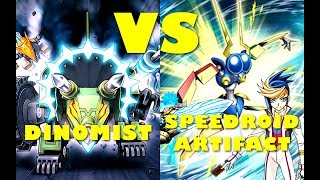 Real Life Yugioh - DINOMIST vs SPEEDROID ARTIFACT | June 2017 Scrub League