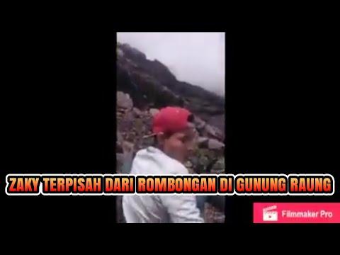 Ini lah detik detik Terakhir Sebelum Zaki terpisah dari rombongan di Gunung Raung