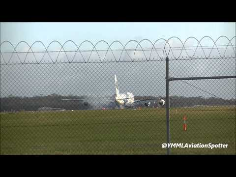 Malaysia Airlines A380-842 Arrival/Departure Melbourne Airport (9M-MNF)