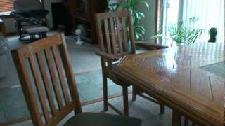 Woodworking project dining room table and chairs